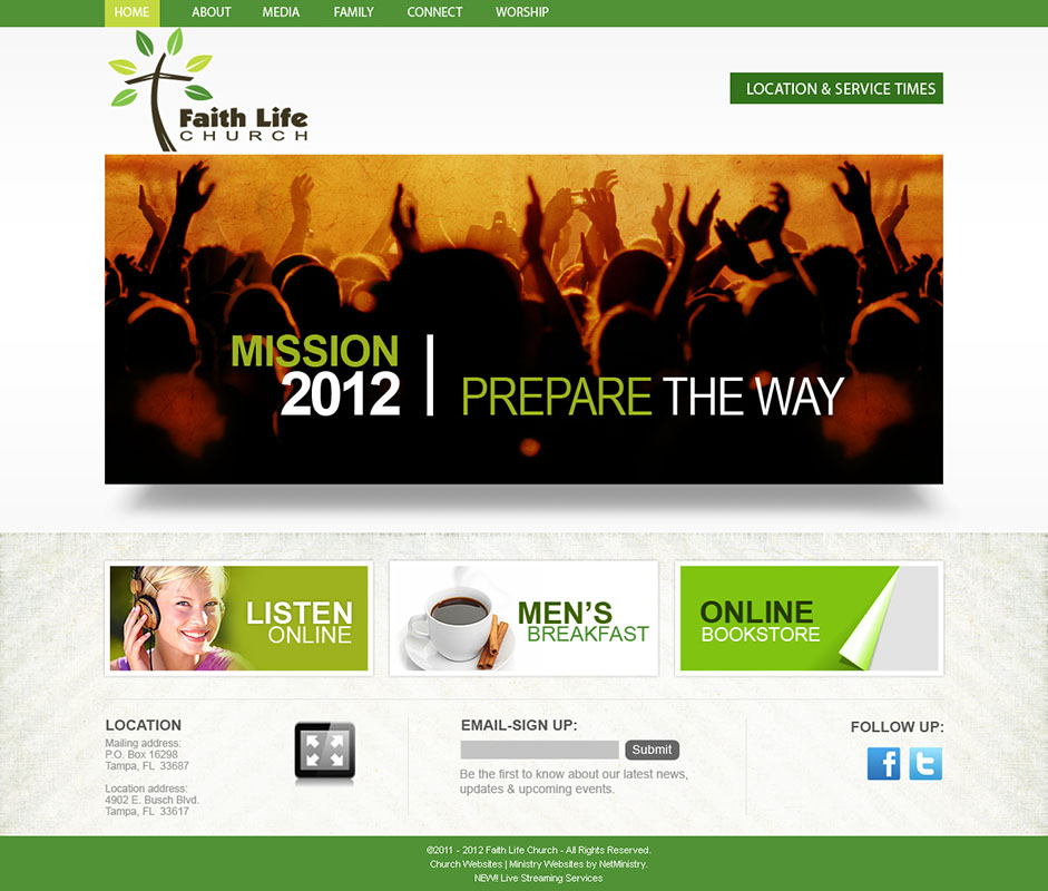 Church website design and church logo design for Websites to design houses for free