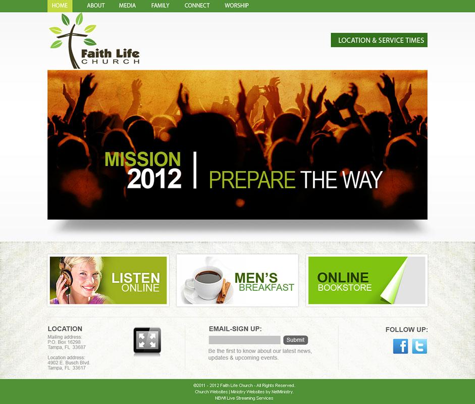 Church Website Design And Church Logo Design